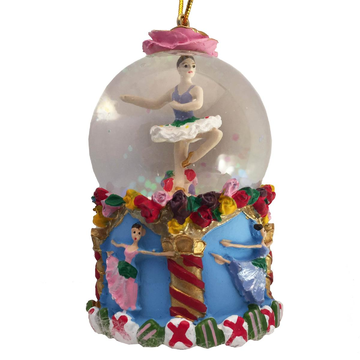 Mini Flower Ballerina Dancers Snow Globe Ornament
