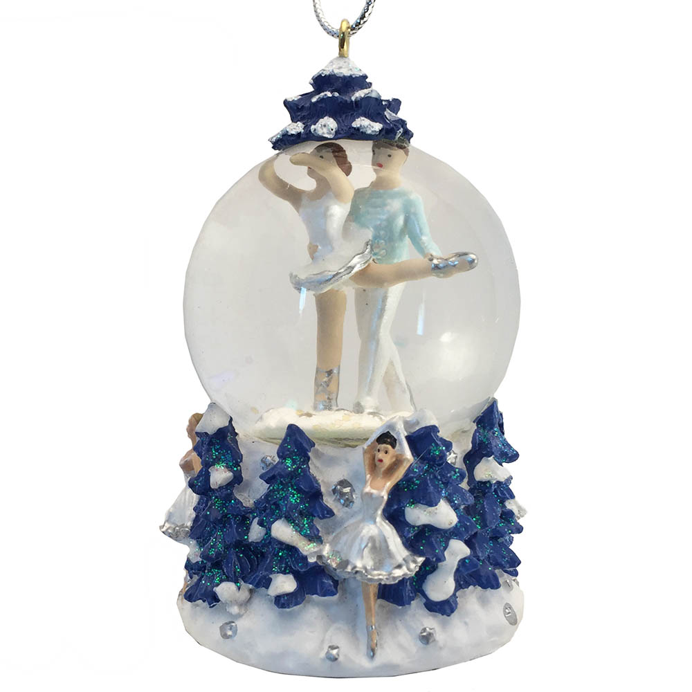 Mini Snow Queen Pas de Deux Snow Globe Ornament
