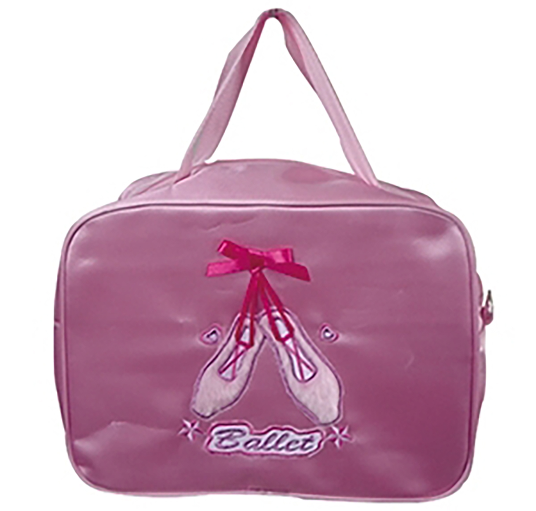 Lively Pink Pointe Shoes on Satin Dance Ballet Bag