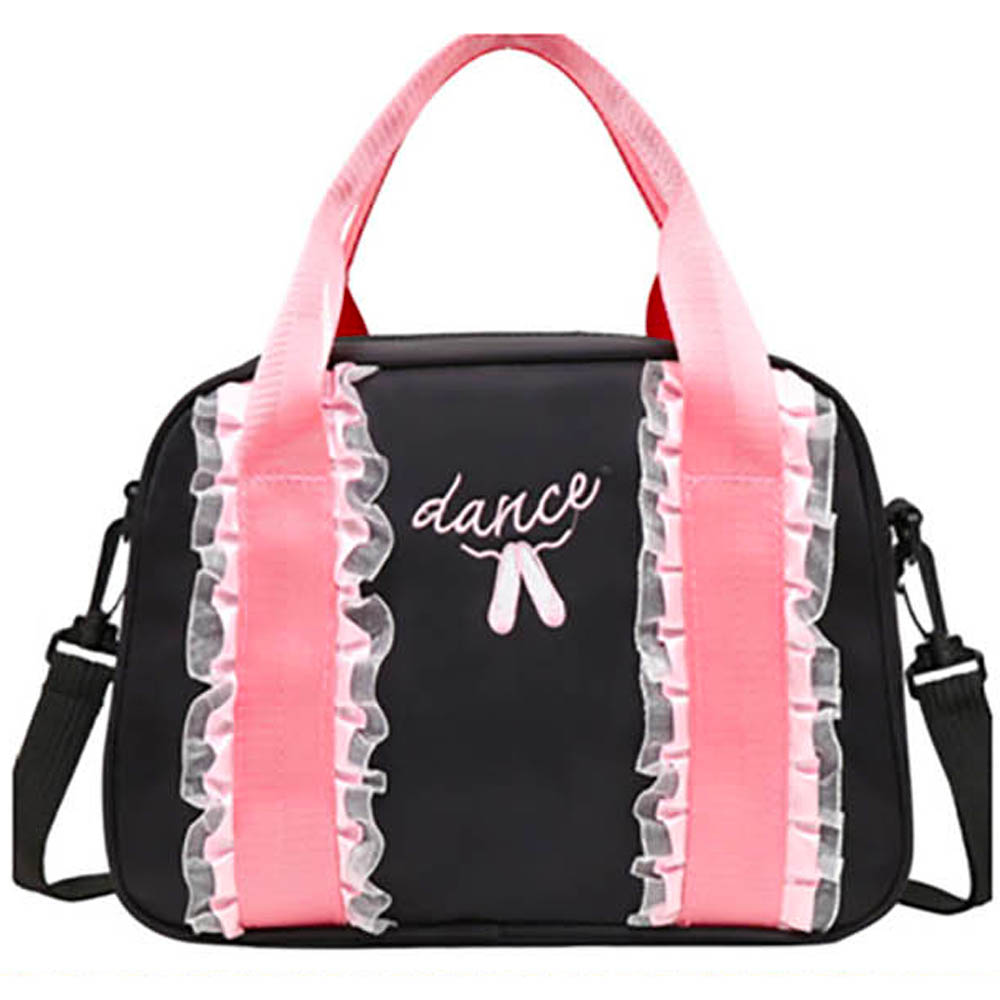 Black and Pink Lace Dance Bag