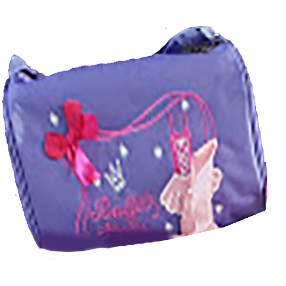 Purple Dance Duffel with Pink Bow
