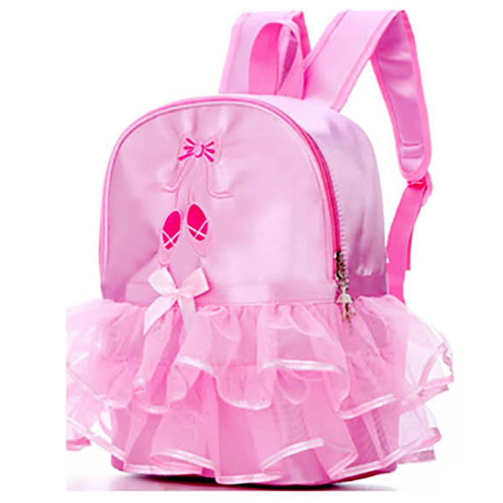 Pink Ballet Shoes with Lace Backpack