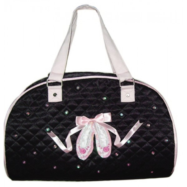 Black Ballet Fashion Handbag with Pointe Shoes