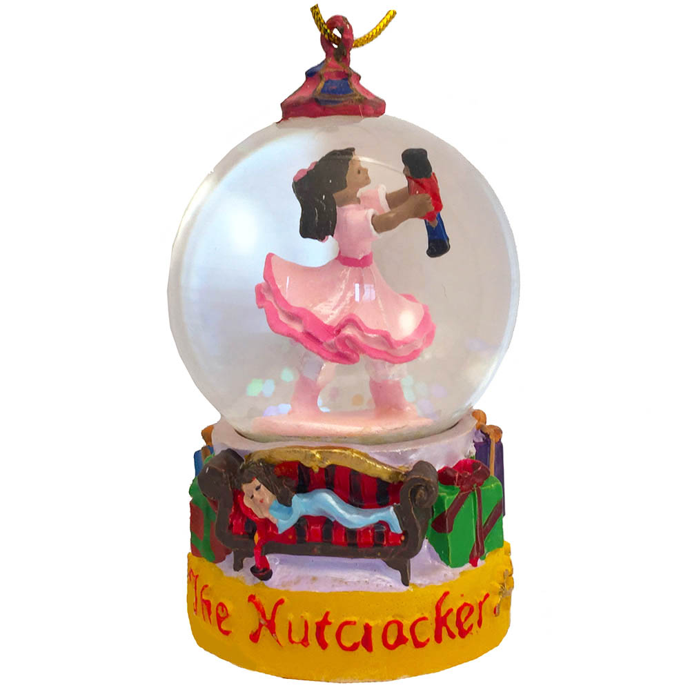 Mini African American Clara Snow Globe Ornament