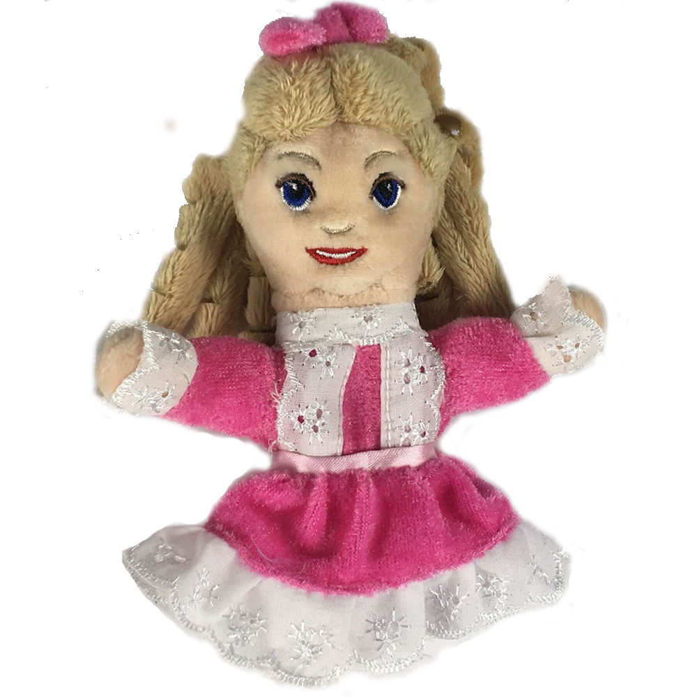 Plush Clara Ballerina Finger Puppet For Kids