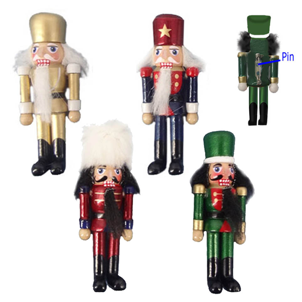Nutcracker Pins set of 4 - Sold by Dozen