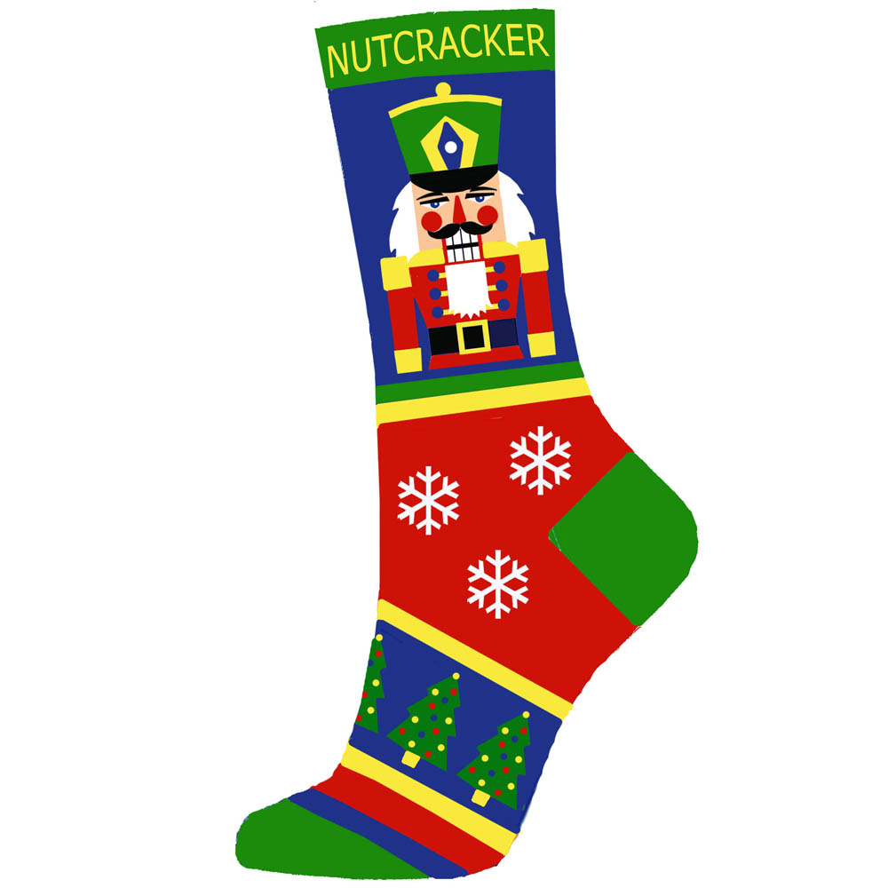Multicolor Christmas Nutcracker Light Weight Sock