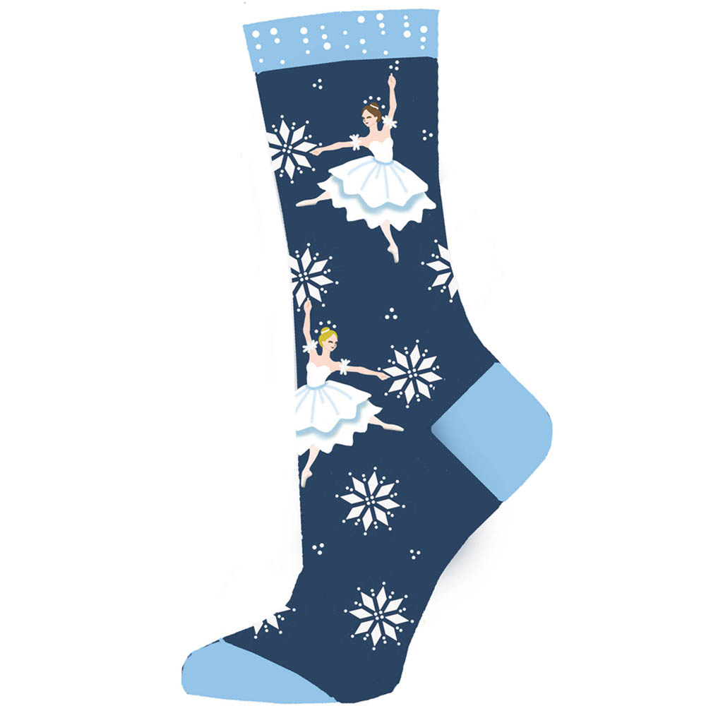 Snow Scene Dancers The Nutcracker Light Weight Sock