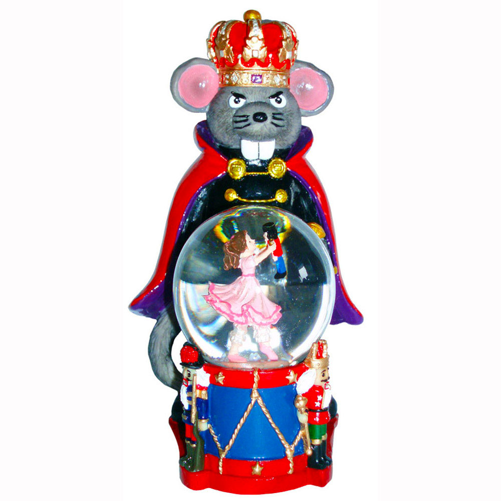 Mouse King Figurine with Clara Mini Snow Globe