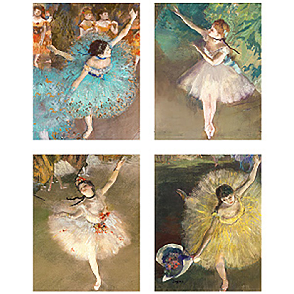 Degas Dancers Keepsake Boxed Magnetic Closure Note Cards