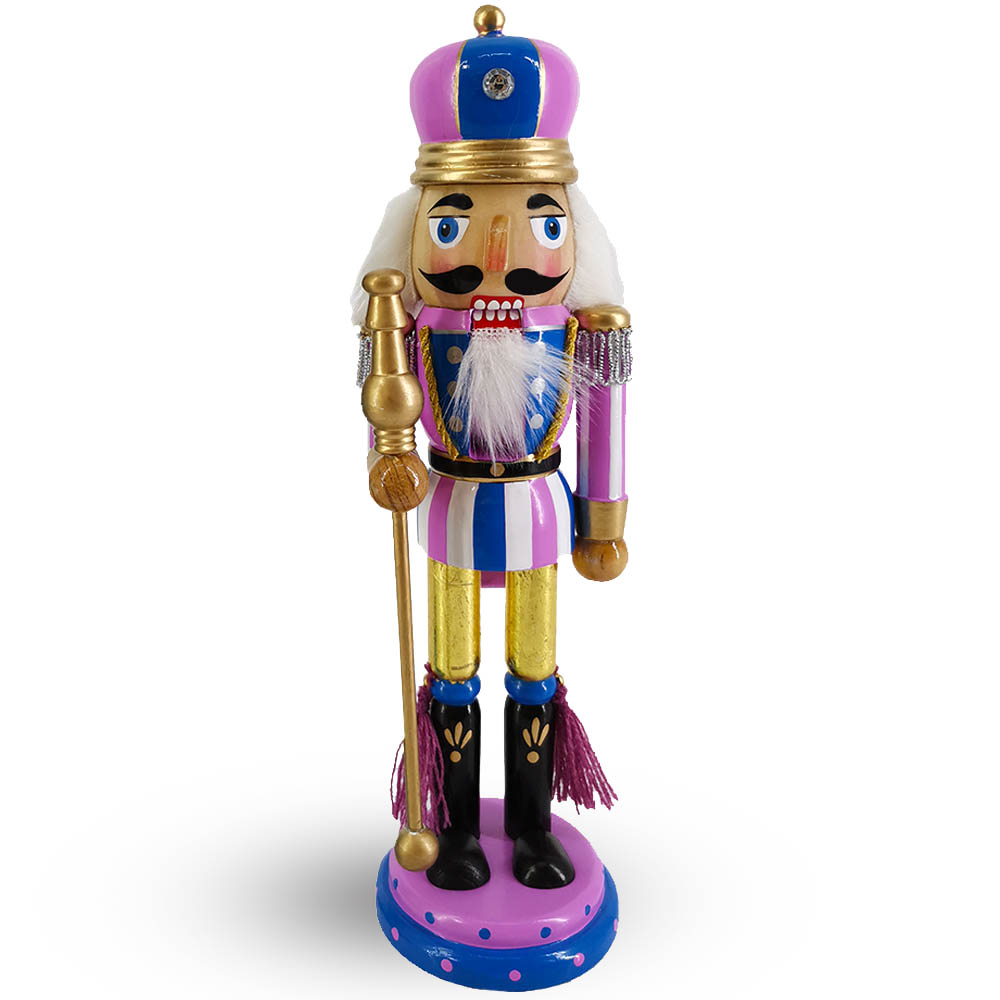 King Nutcracker Lavender and blue  and Crown 10 inch