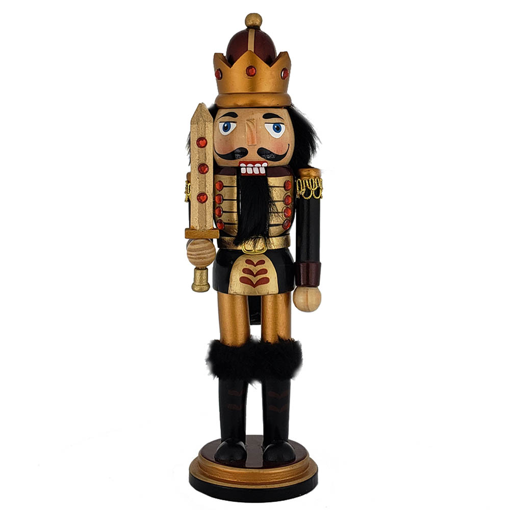 King Nutcracker Copper Gold Metallic with Sword 10 inch