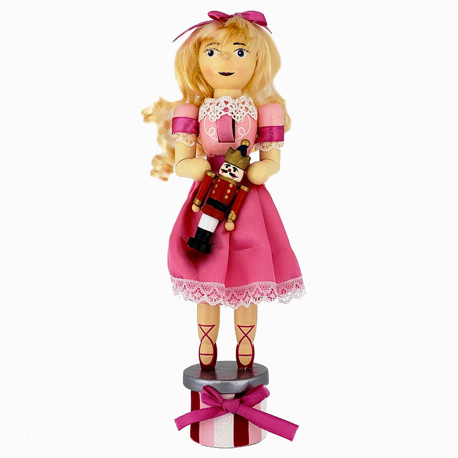 Clara Nutcracker with Pink Dress 10 inch