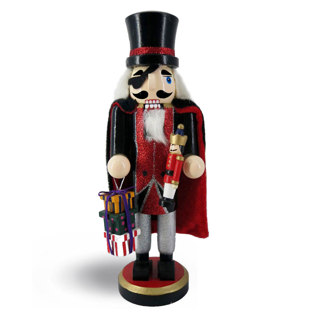Drosselmeyer Nutcracker with Cape and Presents 9 inch