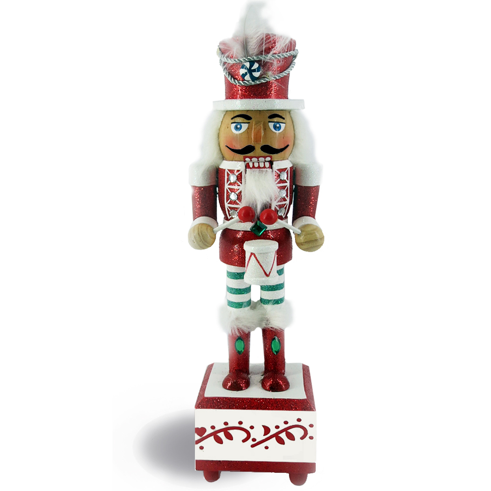 Candy Cane Nutcracker Suite March Music Red and Green 12 inch