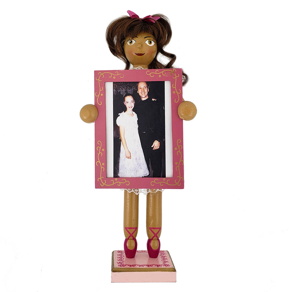 African American Clara Nutcracker with Picture Frame 12 inch
