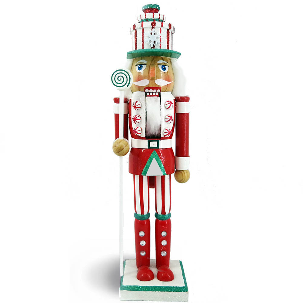 Candy Cane Nutcracker Red Green Glitter and Present Hat 15 inch