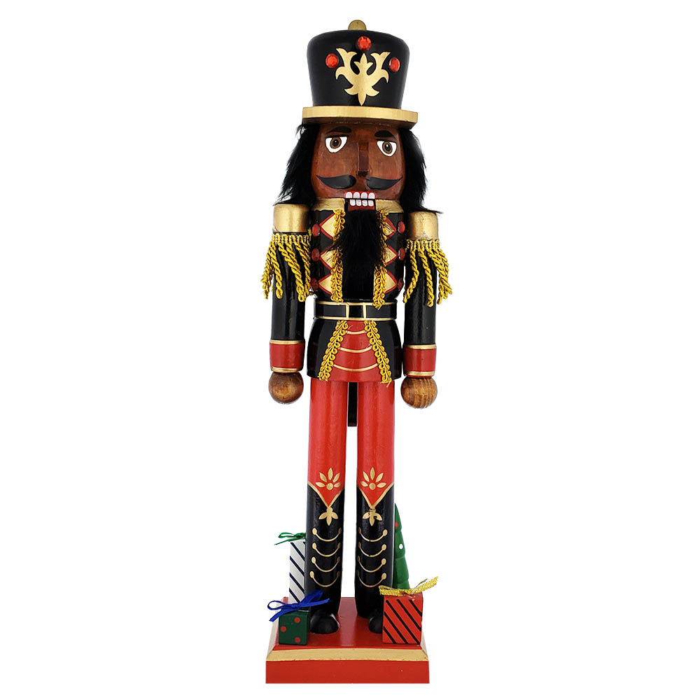 African American Soldier Nutcracker Black Red Gifts Base 15 inch