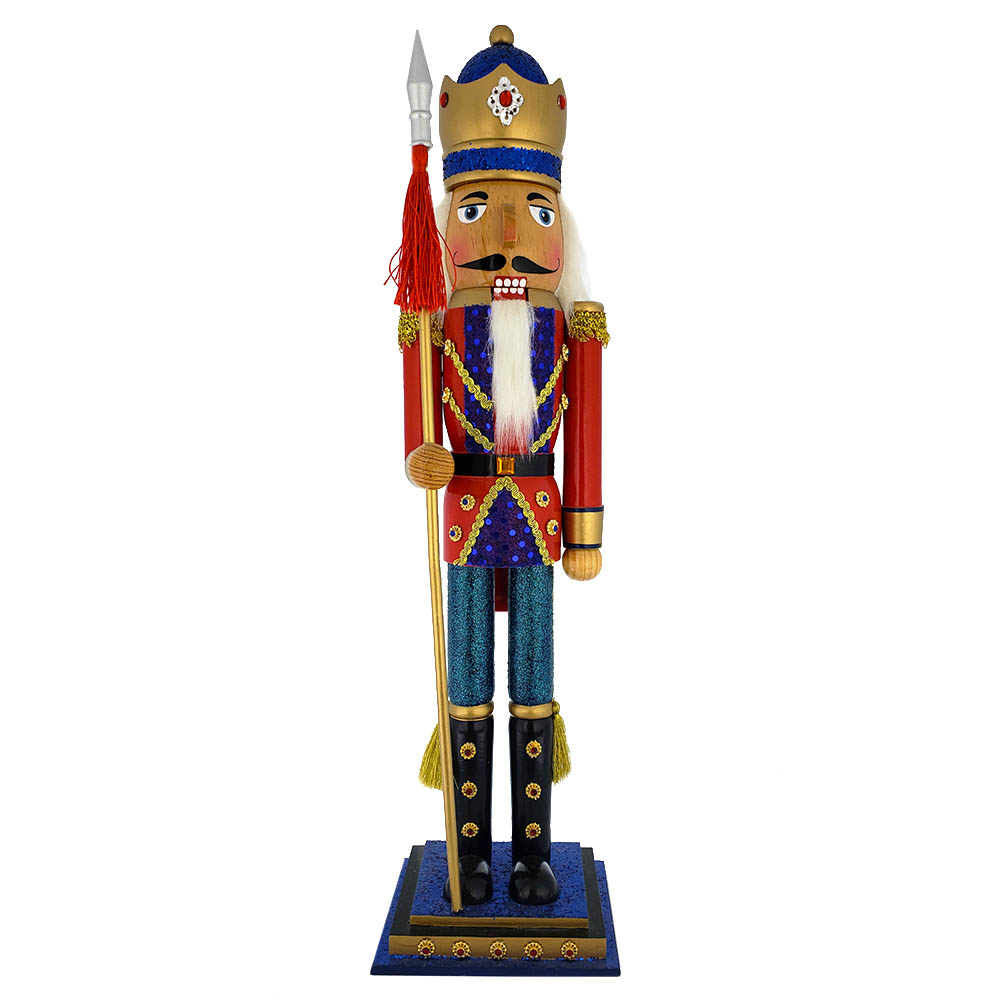 Soldier Nutcracker with Gold and Red Jacket and Gold Crown 20 inch