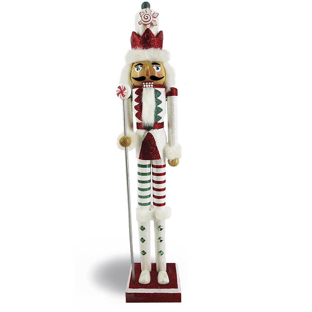 Candy Cane Nutcracker Red Candy Striping Slim 20 inch