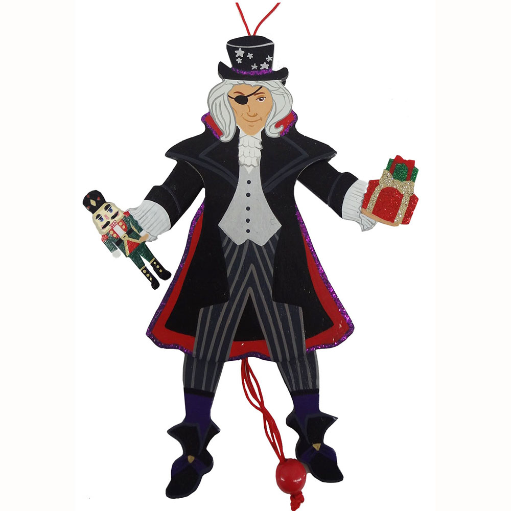 Drosselmeyer Pull Puppet Ornament 6 inch