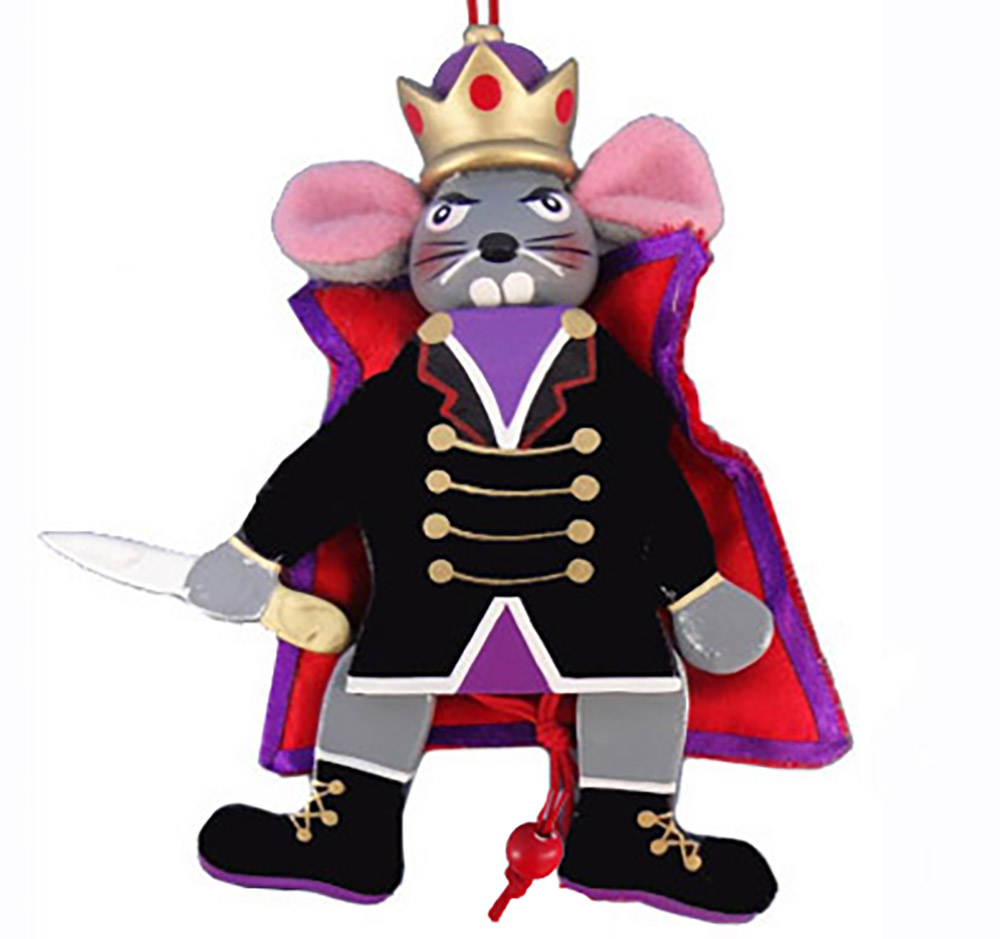 Mouse King Pull Puppet Ornament 5 inch