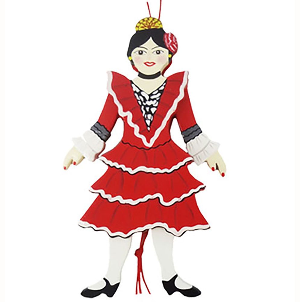 Spanish Dancer Land Of Sweets Pull Puppet Ornament 6 inch