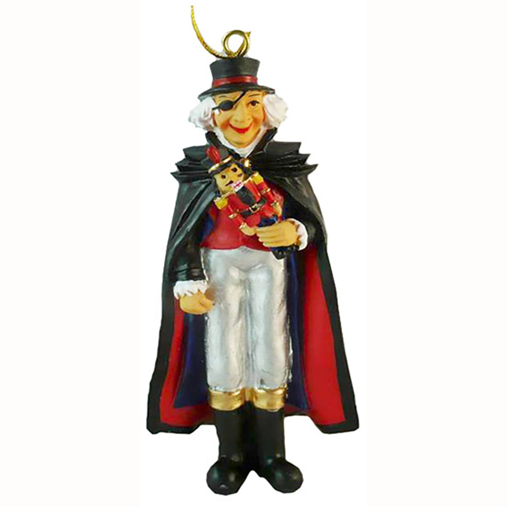 Uncle Drosselmeyer Ornament with Nutcracker