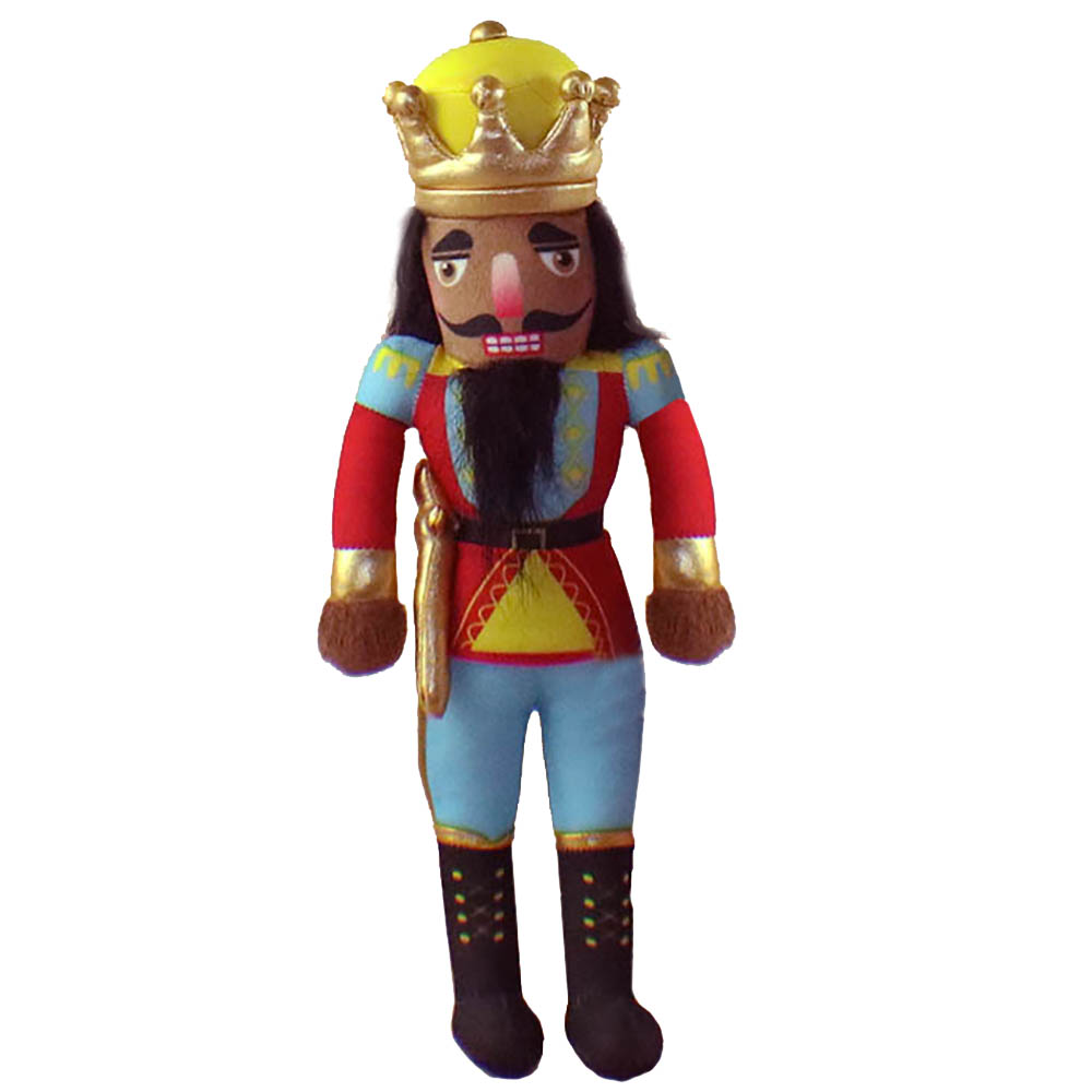 African American King Nutcracker Plush Doll 14 inch