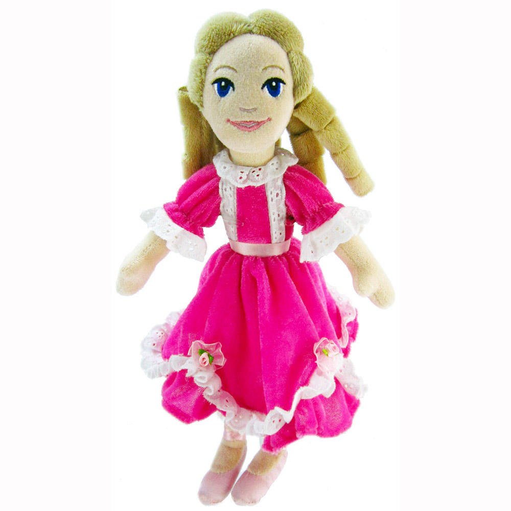 Plush Clara Doll in Pink Dress 12 inch