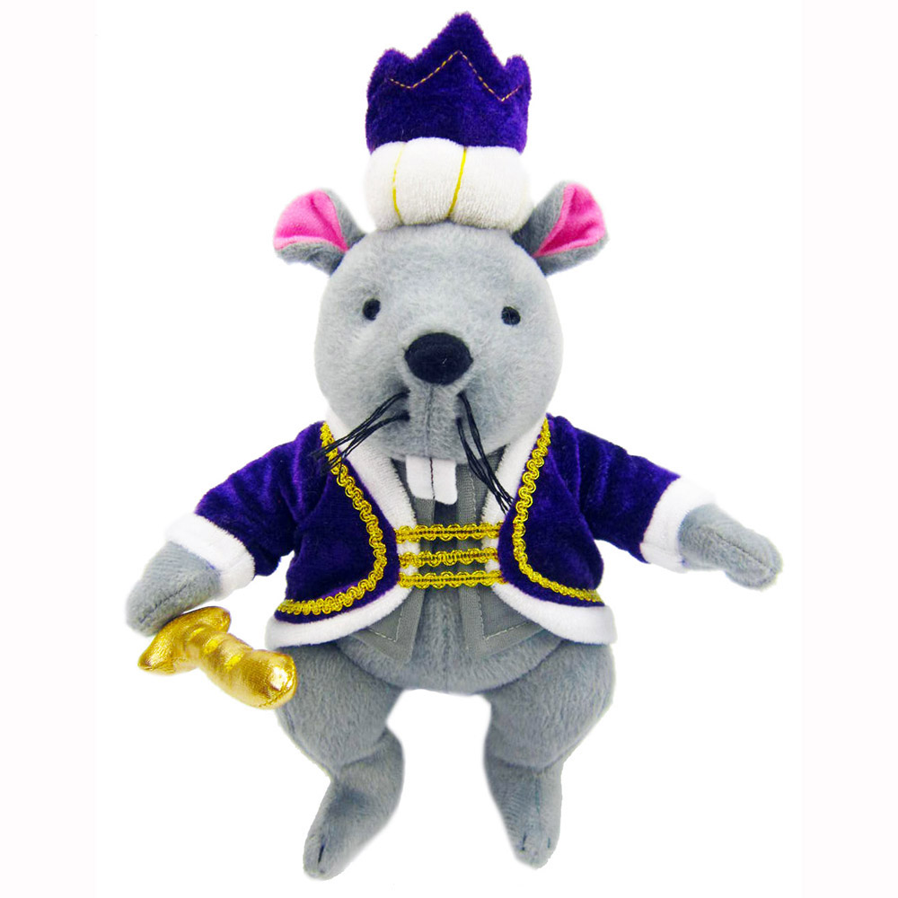 Plush Mouse King Doll with Royal Crown and Jacket 12 inch