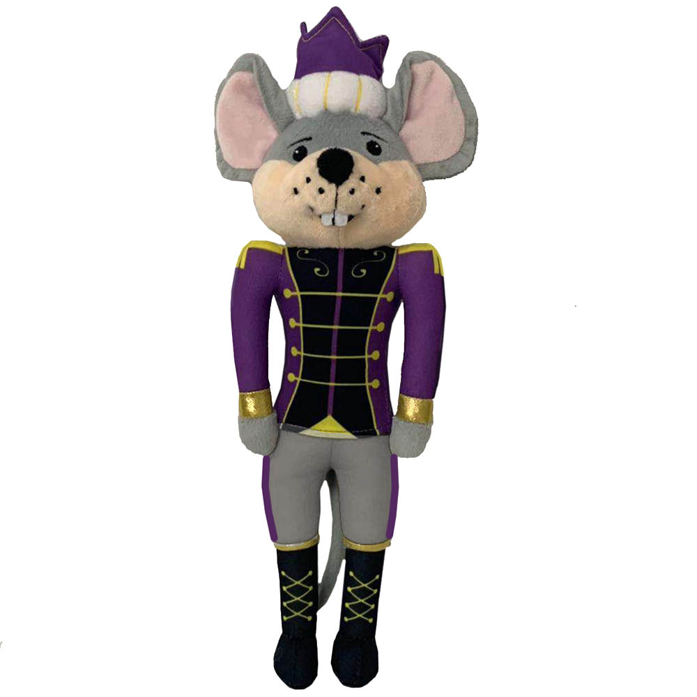 Plush Mouse King Doll with Royal Purple Jacket and traditional Crown 12 inch