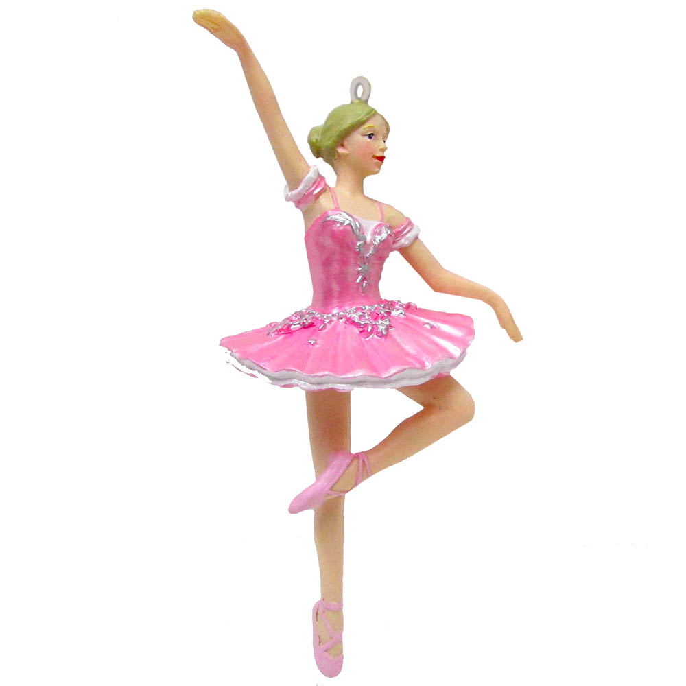 Ballerina in Pink Tutu Resin Ornament 4 inch