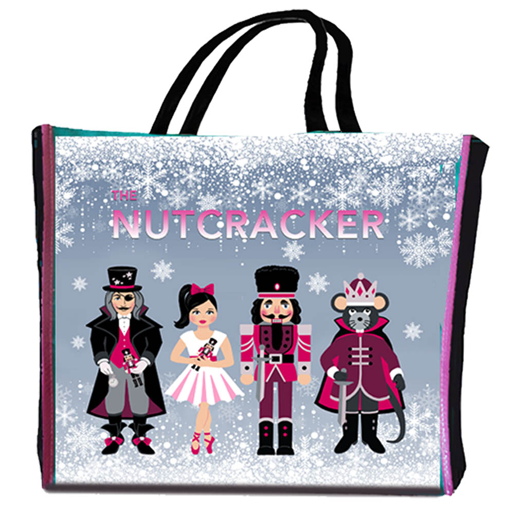 Nutcracker Characters and Dance Reusable Shopping Ballet Bag