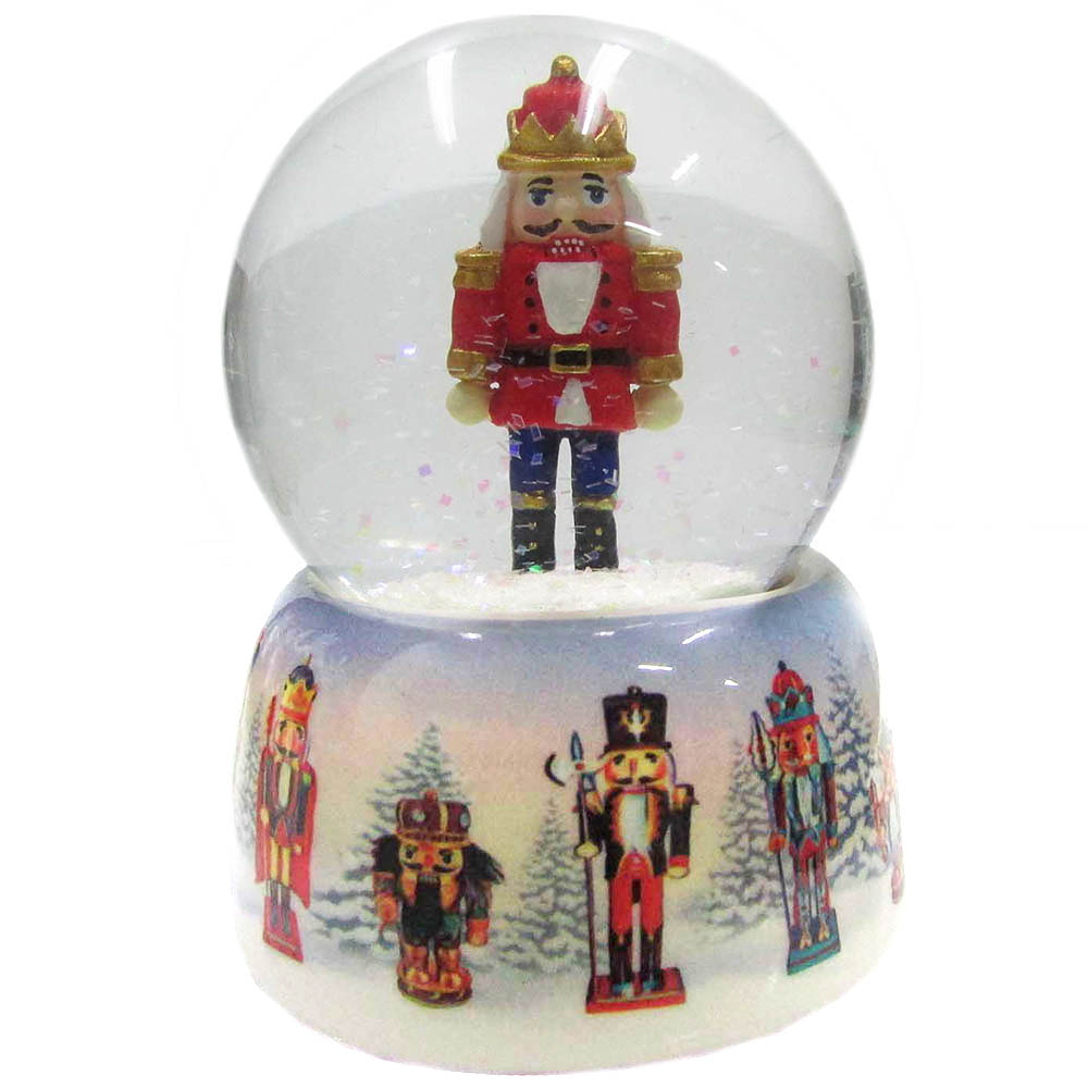 Musical Nutcracker Snow Globe Ceramic 65mm