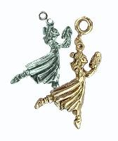 Dancing Clara Nutcracker in Gold or Silver Charm