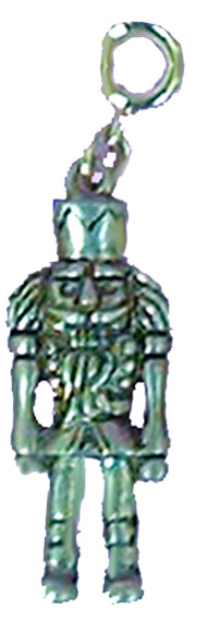 Nutcracker Soldier with Sword in Gold or Silver Charm