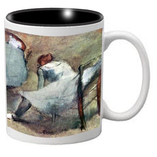 Nutcracker Ballet Mug  DGW01 Degas Dancers lace their shoes