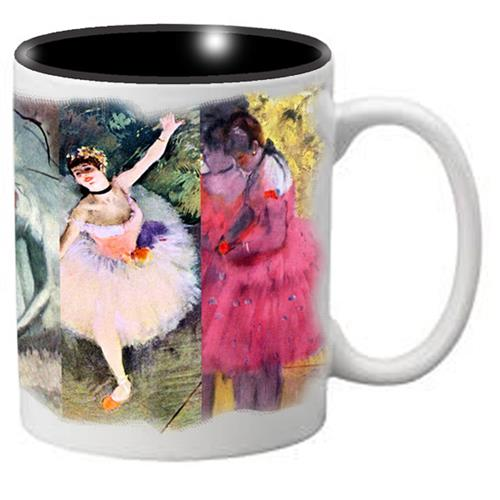 Nutcracker Ballet Mug DGW02 Degas Full Wrap Collage