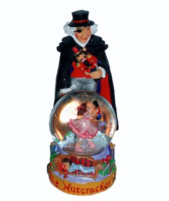 Drosselmeyer Figurine With Clara Mini Snow Globe