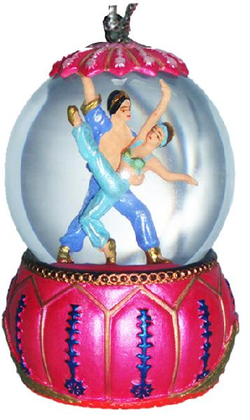 Mini Arabian Dancers Snow Globe Ornament