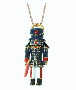 Enamel Nutcracker Solder Pendant with Necklace