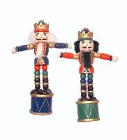 Push Puppet Nutcracker Ornament Assorted 5 inch