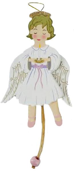 Angel Land of Sweets Pull Puppet Ornament Blonde Hair 5 and a half inch