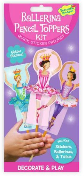 Ballerina Dancer Pencil Toppers Kit