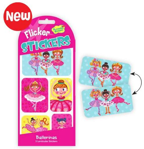 Ballerina Dancer Flicker Stickers