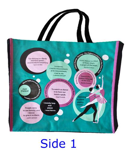 Reusable Ballet Quotes Design Shopping Ballet Bag