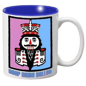 MG103: Nutcracker Ballet Mug - Purple Blue Nutcracker