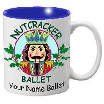 MG105: Nutcracker Ballet Mug - Nutcracker with Holly