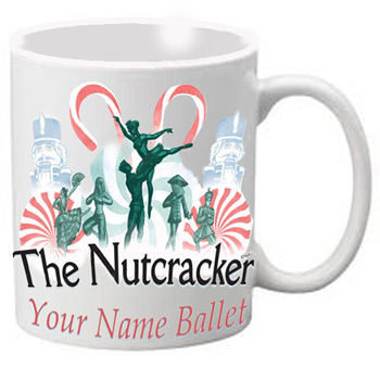 MG109: Nutcracker Ballet Mug - Nutcracker with Candy Canes